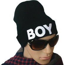 Hot Sale 2013 New Boy Winter Warm Beanie Fashion Wool Knitted Black Hip-hop Hat Unisex For Adult Autumn Cap#009