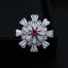 CINDY XIANG Cubic Zirconia Flower Collar Brooches For Women Fashion Pin Brooch Copper Jewelry Wedding Coat Accessories Kids Gift