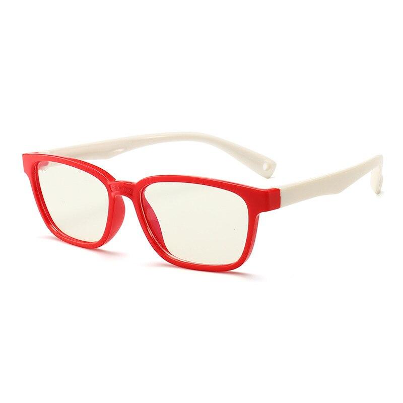SO & EI новые модные детские анти-синие очки мужские и женские плоские зеркальные силиконовые очки Мягкая оправа