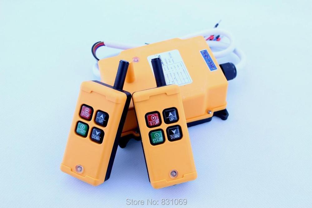 1pcs HS-4 AC110V 4 keys Control industrial Remote Controller 2 Transmitter+1 Receiver 4 receiver
