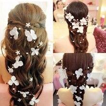 Women Bendable Faux Pearl Flower Wedding Party Bridal Headband Tiara Headwear