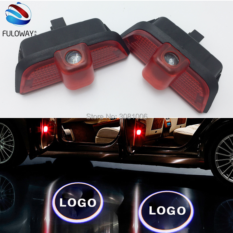 2X for Mercedes Benz W204 C Class C180 C200 C350 LED Welcome Car Door Courtesy Shadow Logo Lights Projector Laser Ghost Shadow