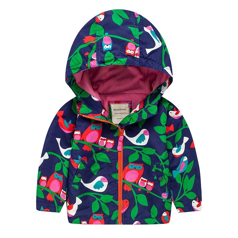 Flickor Höstjacka Fodral Tryckt för Barn Windbreaker Jacka Bomull - Barnkläder