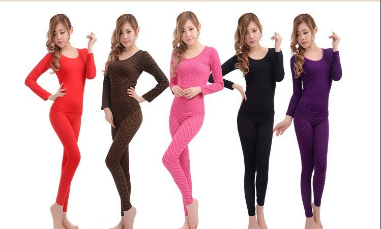 Thermal Underwear Combed Cotton Wholesale,  Suit Thin Body Sexy Lady Underwear Keep Warmth