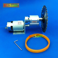 FitSain Mini table saw for 4 100mm saw blade spindle Cutting saws Machine Pulley bench electric tool wood chain 775 24V 8000RPM