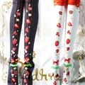 Princess Sweet lolita stockings Autumn and winter knitting Christmas strawberries knee-high stockings GXW32