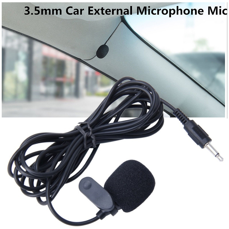 New Arrival 1pc 3.5mm Car Clip External Microphone For Bluetooth Stereo GPS DVD MP5 Radio