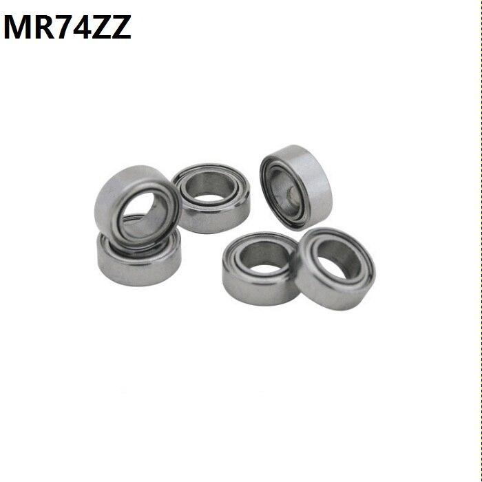 500pcs lot MR74ZZ miniature ball bearing MR74 MR74 2Z shielded deep groove ball bearings 4x7x2 5
