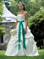 Free Shipping Cheap Sweetheart Bridal Gown Wedding Dresses With Pleated And Ribbons Vestidos De Novia