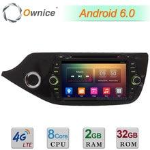 "8 ""Android 6.0 Octa Core 2 GB + 32 GB 4G WIFI DAB Coche DVD Multimedia estéreo Reproductor de Radio Para Kia CEED 2012 2013 2014 2015 2016 2017"