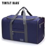 Tinyat Men Travel Bag Portable Duffle Bag Folded Travel Pack Folding Hiking Bag Easy Carrying Hand