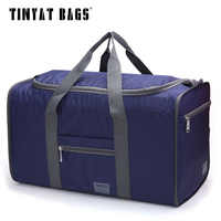 TINYAT Men Nylon Travelling Bag Handbag Waterproof Folding Carry Duffel Bag Women Luggage Bag Storage Weekender Bag totes T306
