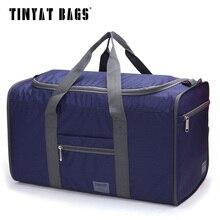 Tinyat männer tragbare tasche wasserdichte nylon pack falttasche einfach tragenden kapazität handtaschen große tasche blau t306