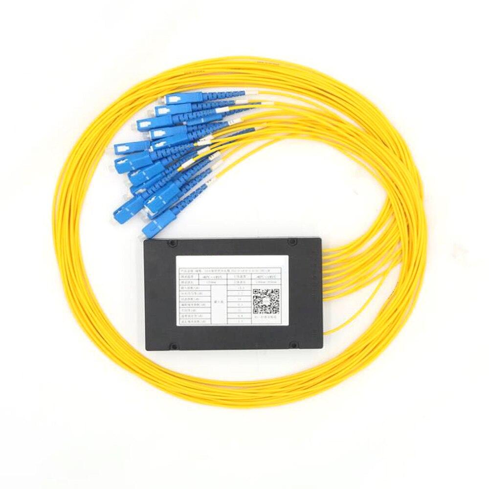 High Quality SC/UPC 1x16 FBT Fiber Optic Splitter 1310/1550nm Singlemode, PLC Splitter Module SM 1M, High ReliabilityHigh Quality SC/UPC 1x16 FBT Fiber Optic Splitter 1310/1550nm Singlemode, PLC Splitter Module SM 1M, High Reliability