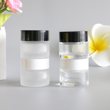 10G Frosting Glass Empty Hand Moisturizer Cream Pot Jar Eye Face Feet Sunscreen Mask Container Body Lotion Packaging 12pcs
