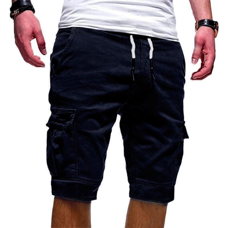 Men Half Pants Multi-pockets Loose Breathable Male Casual Pants for Summer XRQ88