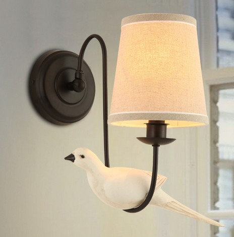 Lights & Lighting Led Indoor Wall Lamps American Style Creative Cloth Bird Wall Sconce Led Wall Lamp Vintage Wall Light Fixtures Indoor Lighting Lampara Pared For Improving Blood Circulation