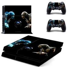 Mortal Kombat Vinyl Decal Sticker For PS4 Skin Sticker for Playstation 4 Console with 2 Controller Skins