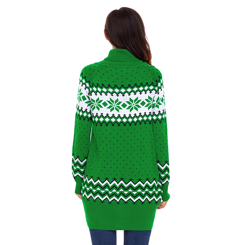 Green-Christmas-Snowflake-Knit-Turtleneck-Jumper-LC27807-9-2