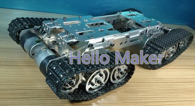 Tank chassis intelligent remote control crawler chassis obstacle crossing vehicle chassis crawler robot diy tracked vehicle robot obstacle crossing chassis smart tank car