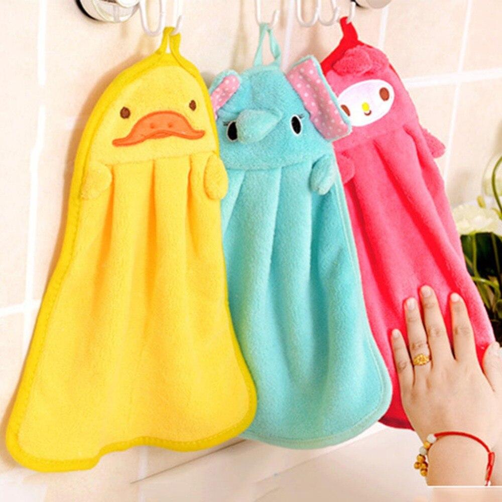 New Hand Towel Portable Hanging Kitchen Bathroom Soft Cloth Wipe ...