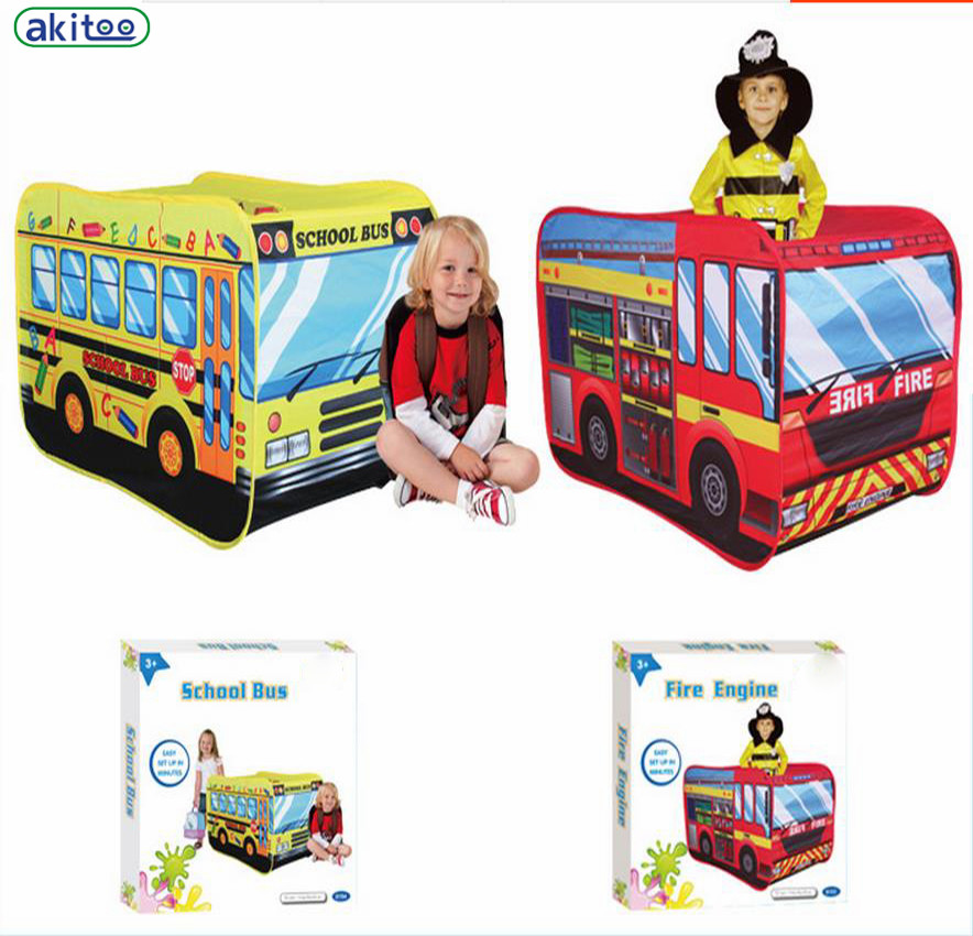 info for 2e2e4 014ef New arrival akitoo Children's Tent Super Car Toy House Indoor Outdoor Game  House kid tent school bus and fire tent gift