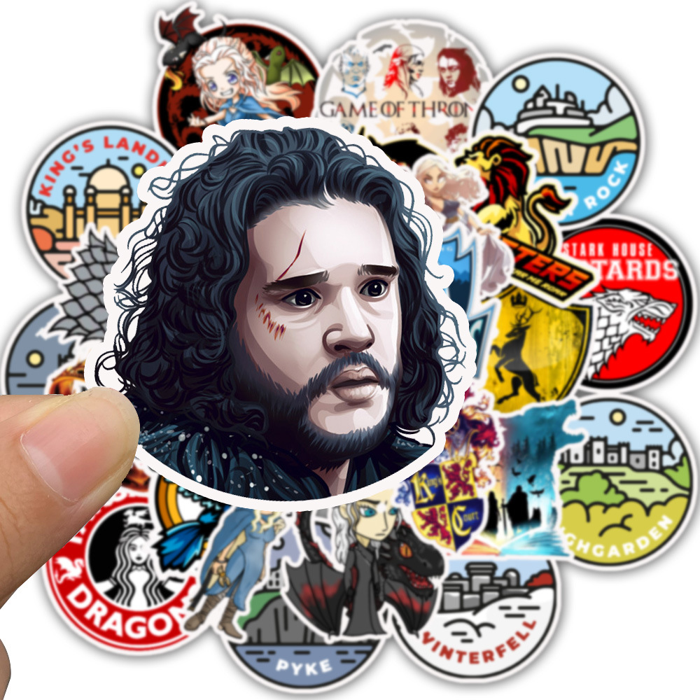 50 Pcs Game Of Thrones Personality Graffiti Stickers Waterproof Luggage Suitcase Graffiti Sticker Pack Skateboard Furniture Toys
