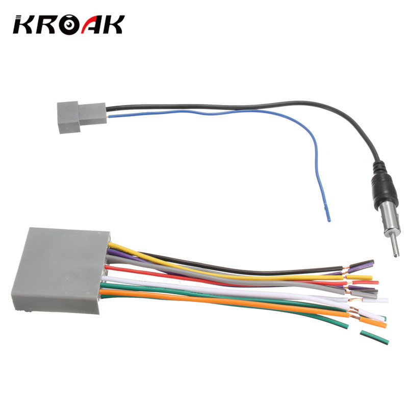 KROAK Car font b Stereo b font Radio Player Wire font b Harness b font DVD honda stereo harness promotion shop for promotional honda stereo Wiring Harness for Dodge Ram 1500 at panicattacktreatment.co