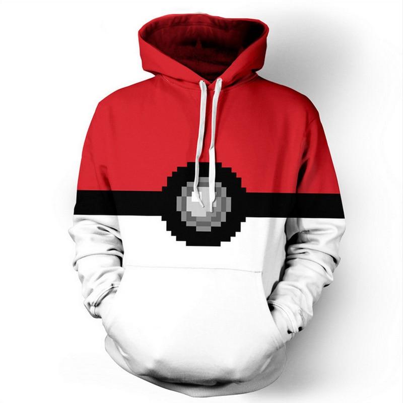 Fashion hoodies men 3D print pokemon poks