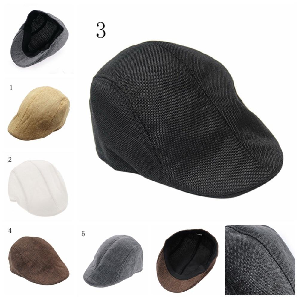 1PCS Mens Golf Cap Vintage Herringbone Flat Cap Peaked Riding Hat Beret Country Golf Hats