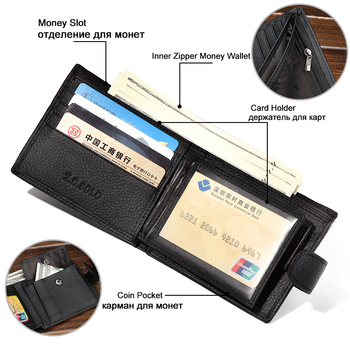 X.D.BOLO Wallet Men Leather Genuine Cow Leather Man Wallets 3