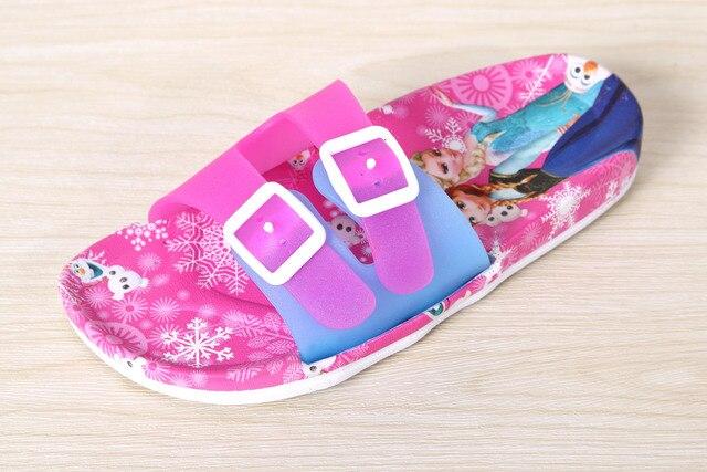 2017 fashion cartoon girls sandal cute beach shoes kids bathroom indoor soft bottom slipper childrens bath - Magenta Bathroom 2016
