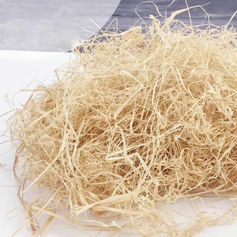 100 גרם/200 גרם טבעי צבועות רפי יוטה מתנה/חתונה סוכריות אריזה חומר תיבת מילוי אספקת מגורר להתקמט נייר