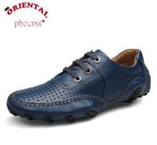 Véritable Cuir Hommes D'été Trou Chaussures Mocassins Chaussures Hommes Appartements Casual Hommes Mocassins En Cuir Souple Chaussures D'été Trou Respirant