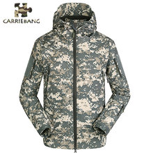 Men Autumn Winter Warm Jackets Fleece Black Green Camo Print Army Military Special Forces Camouflage Suit Military Uniform(China)