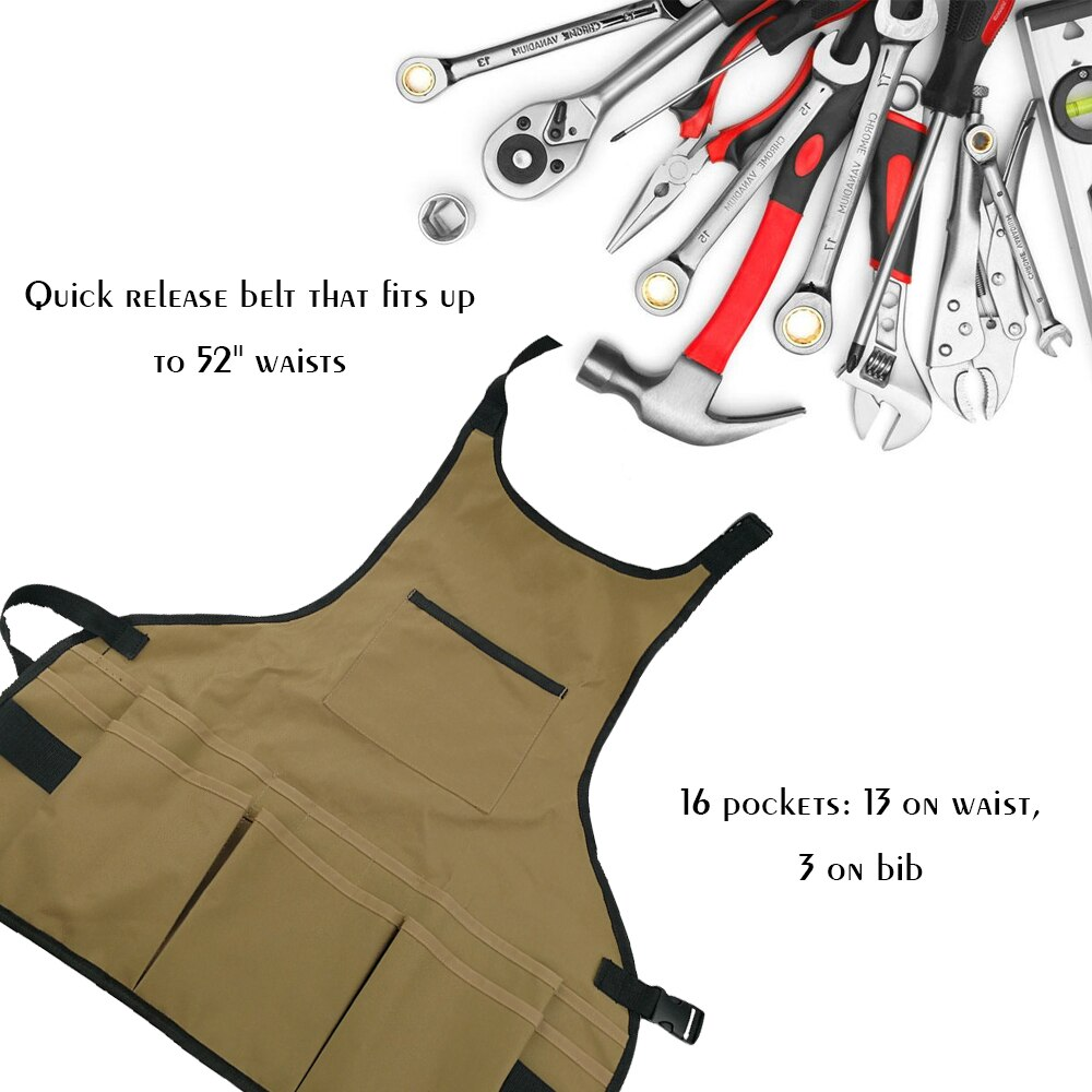 Professional Convenient Technicians Big Size Apron With Small Pocket Practical Tool Bags Belt Tool Pouch Organizer