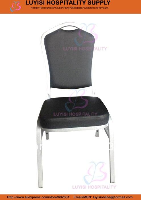 Black Vinyl Steel Banquet Chair