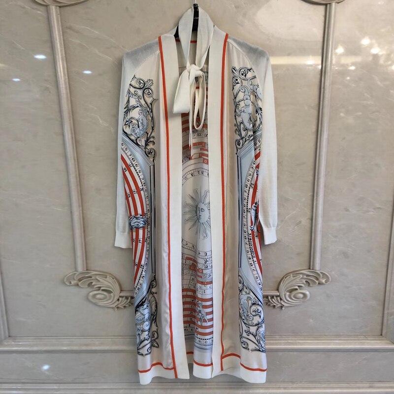 De luxe robe imprimée Femmes 2019 D'été robes fleuries Mode Marque qualité supérieure robe pour femmes