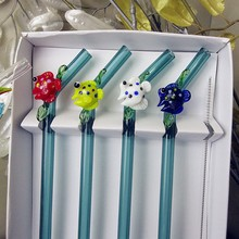 Fish-Accessories Straw-Bar Bending-Straw Glass Decorative Heat-Resistant Drinking Silicon