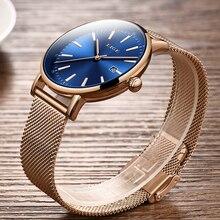 LIGE Wrist Watch Women Fashion Stainless Steel Quartz Watch Dress Women Watches Bracelet Waterproof Clock Relogio Feminino 2019