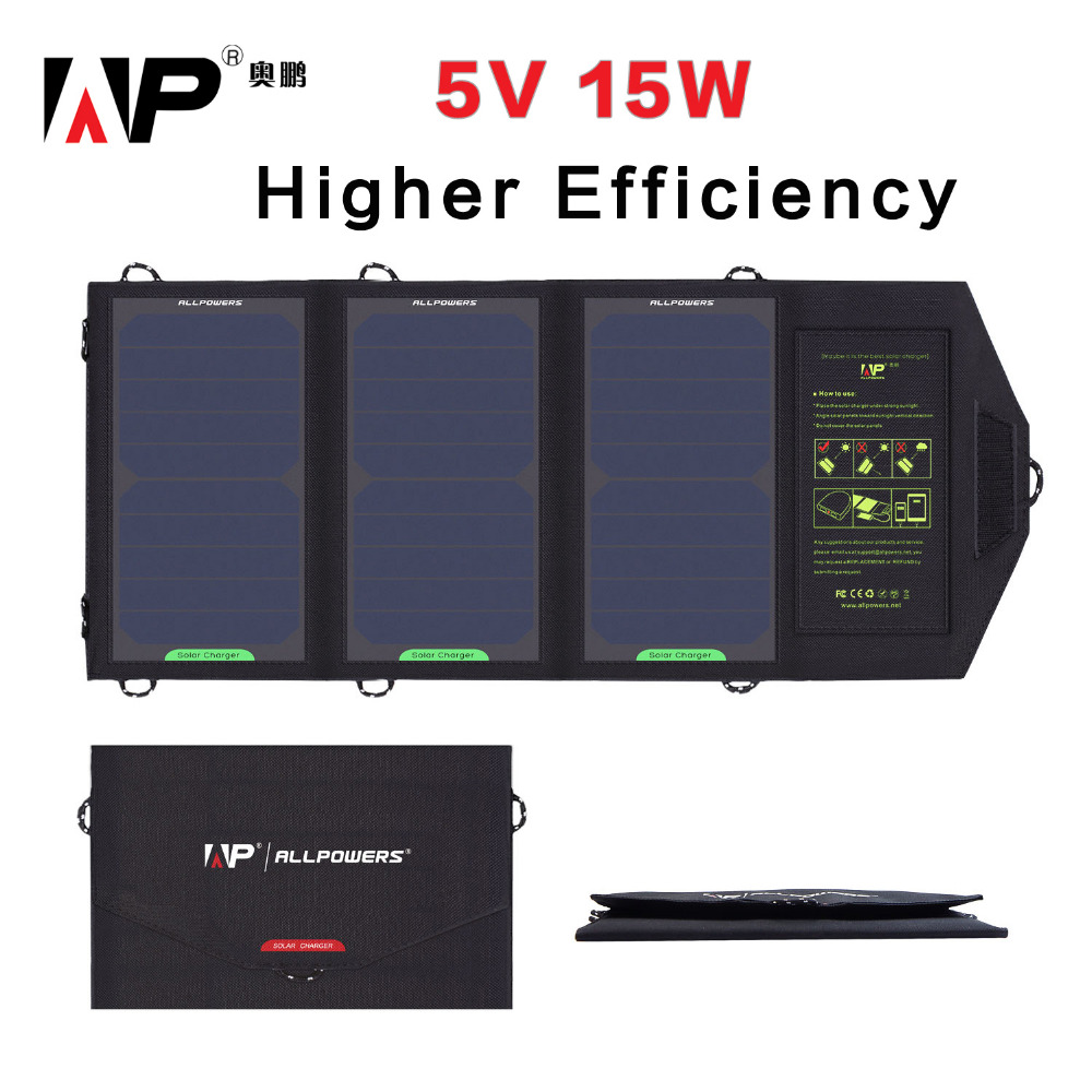 ФОТО Higher Efficiency Solar Panel Charger 15 Watt 5 Voltage Solar Phone Charger for iphone samsung HTC, Tablet PC and More.