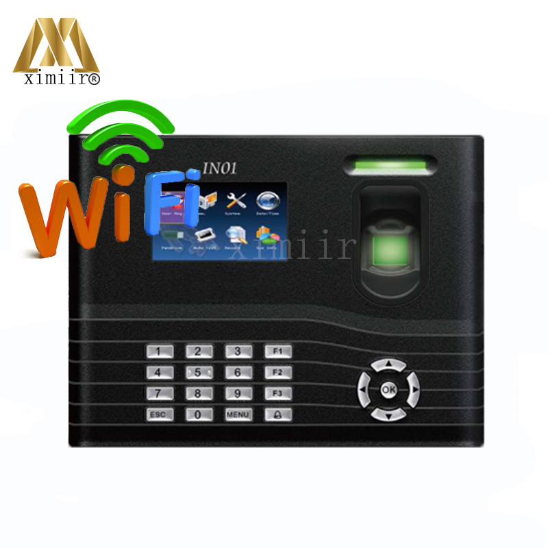 New IN01 WIFI Function Fingerprint Time Attendance Time Recorder TCP/IP USB 3000 User Fingerprint Attendance