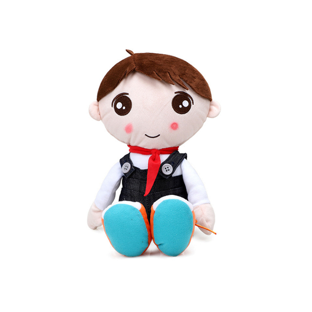 Baby Toy Infant Appease Cute Cartoon Soft Early Education Developmental Happy Doll Plush Toys For Boy Girls Gift