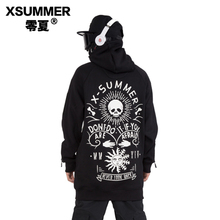 X-SUMMER Original Brand Design SIGNATURE NEVER LOOK BAD Snowboard Hoodie For Man & Woman Outdoor Sports Clothes #XSW17LH04