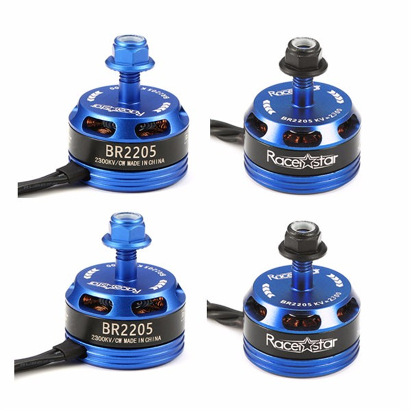 4 unids Racerstar Racing Edition 2205 BR2205 2300KV 2-4 s Motor sin escobillas CW/CCW azul oscuro para QAV250 ZMR250 RC Drone Quadcopter DIY