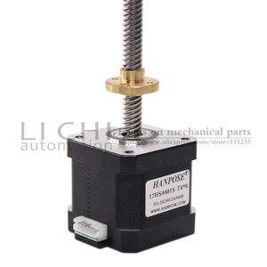 Image 2 - Motor paso a paso de tornillo Nema17 de 40mm, 17HS4401S T8 L300MM con tuerca de cobre de plomo de 2/4/8mm para motor de impresora 3D, Envío Gratis