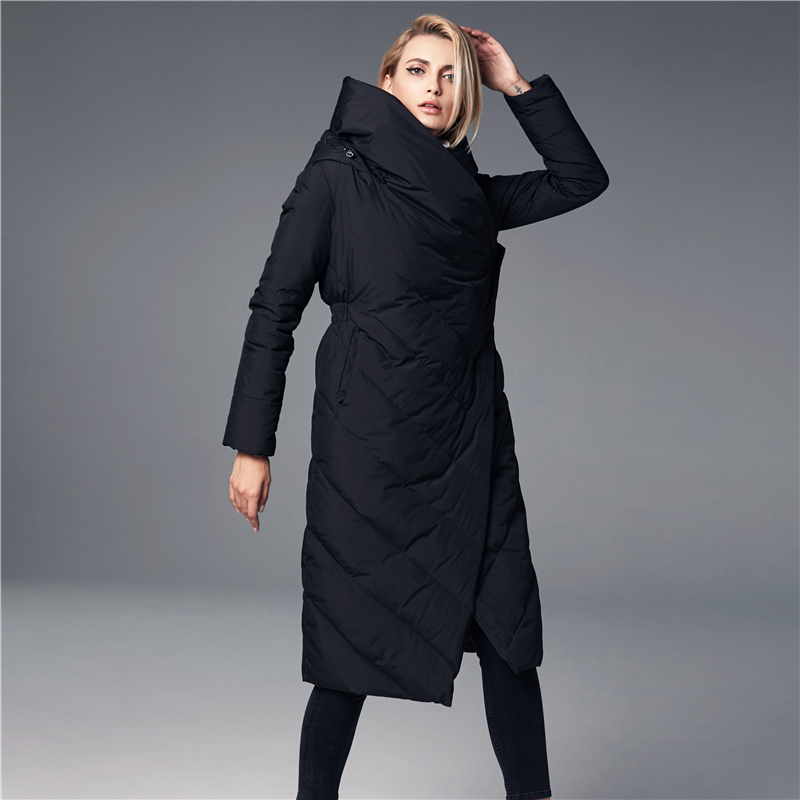 JOJX winter jacket women 2018 New Thicken Long Hooded parka women  winter coat Warm Jacket Female Coats Overcoat-في سترات فرائية مقلنسة من ملابس نسائية على  مجموعة 1