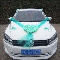 Artificial Flowers Rose Silk Wedding Car Decoration Fake Flower Cloth Decorative Wreath Garland Wedding Decor Valentine
