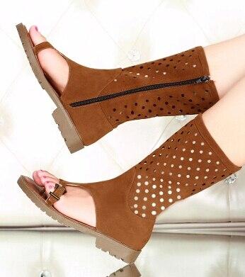 Bout Mujer Plat Femme Sandales Mode Zapatos Gladiateur Black 26 Chaussures Taille Ouvert Pour 62 De D'été brown Fraîches Les À Belle Bottes Femmes Moto wtqC71c