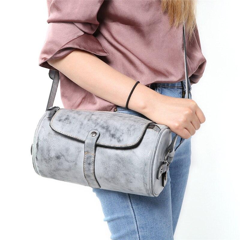 Nesitu 2018 nouvelle mode Vintage cire de brouillard tanné végétal en cuir véritable petites femmes Messenger sacs femme sac à bandoulière M8672